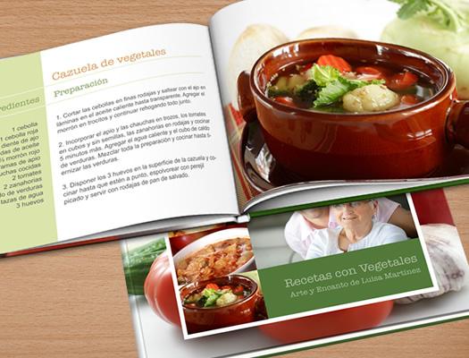 Fotolibro de Recetas. Descargá el software gratuito y diseñá tus propios libro de recetas. Recopilá todas las recetas en uno o varios libros de cocina. Ideales para hacer un regalo con la recopilación de las mejores recetas de la homenajeada.