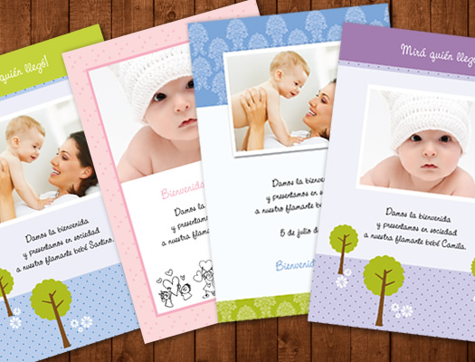 Postales anuncio de la llegada del bebé