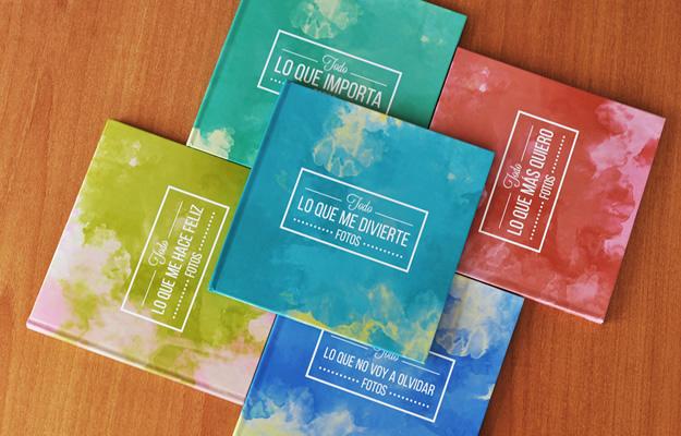 Fotolibro Acuarela Colors - Diseño para descargar y completar con tus fotos