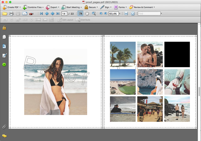 cuadros negros en la prueba de impresión (pdf)