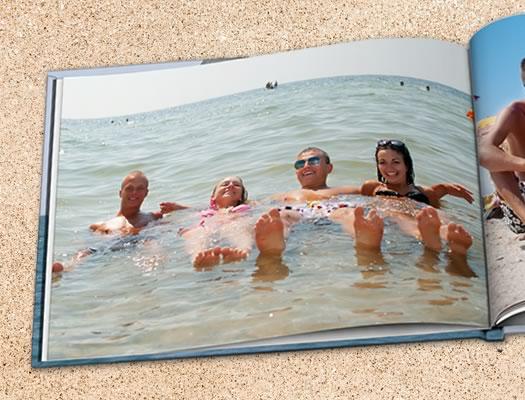 fotolibro de vacaciones - ejemplo de diseño