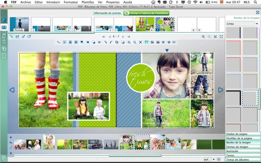 Fondos para fotolibros - Frescura Natural - Ejemplo de aplicación