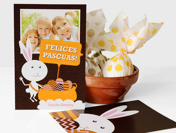 Tarjeta de Pascuas - Diseño Conejo