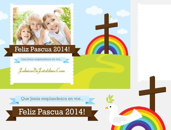 Elementos decorativos para postal de Pascuas - Arco Iris