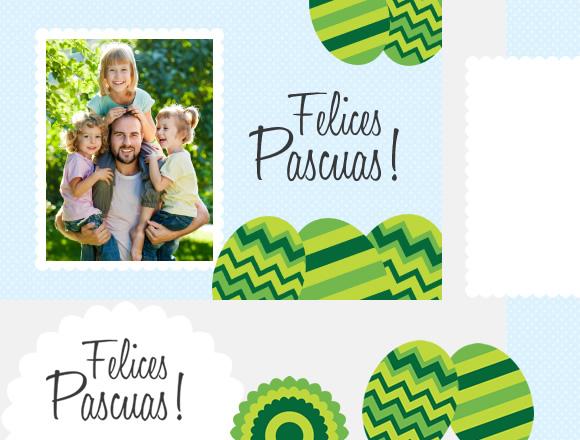 Elementos decorativos para postal de Pascuas - Huevos