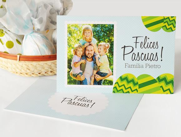Tarjeta de Pascuas - Diseño Huevos