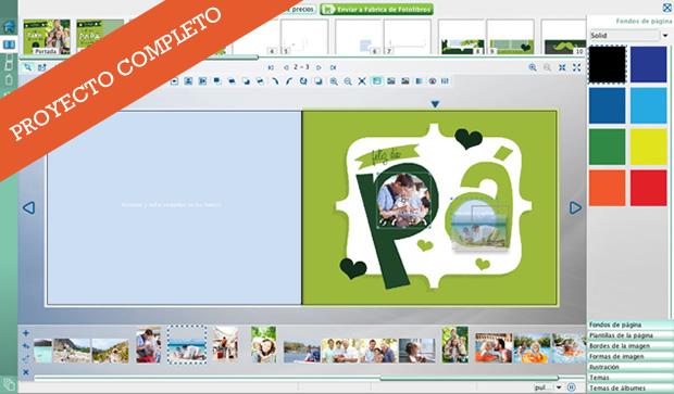 Proyecto de fotolibro completo todo diseñado para colocar tus fotos!