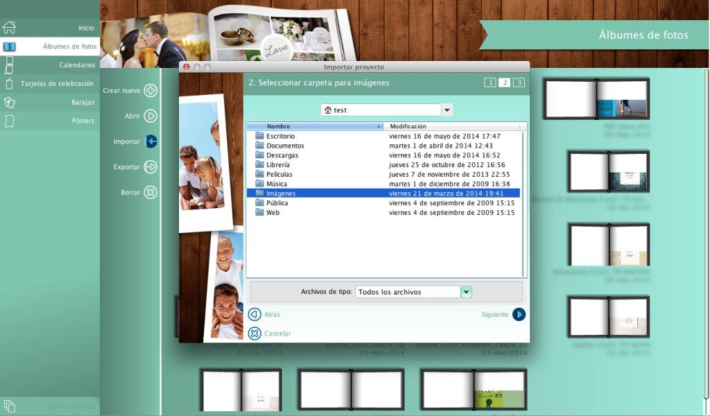 Indicá en qué carpeta querés guardar todas las imágenes del proyecto.