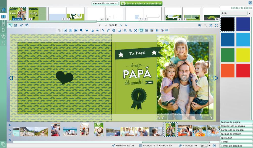 Cuando soltás la foto en el marco queda ubicada pero la podés reposicionar como quieras.
