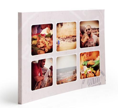 Fotolibro de vacaciones con fotos de Instagram