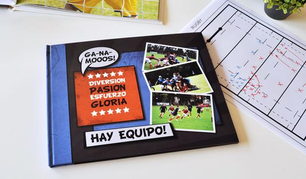 Fotolibro de Deportes. Documentá la gira deportiva de tu club!