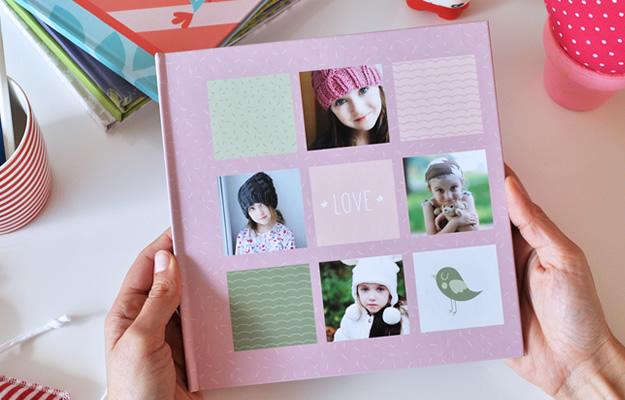 Fotolibro Famlia y Niños - Sky & Grass Rosa - Descarga gratis
