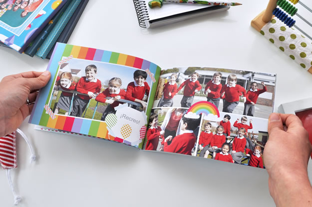 Fotolibro Anuario Arco Iris para descargar y completar con tus fotos