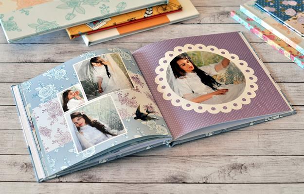 diseño de fotolibro romático - juana noche - book de 15 años, primer año nena