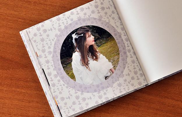 """Diseño de fotolibro """"Wishmical"""" para primera comunión"""