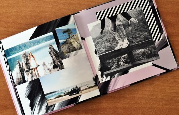 diseño de fotolibro para viajes, vacaciones y books de 15