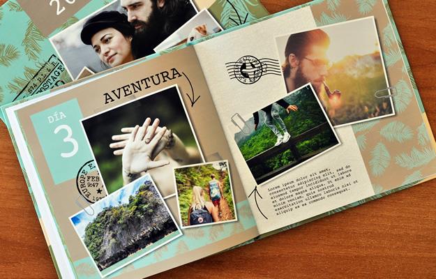 diseño de fotolibro para viajes y vacaciones