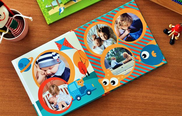 diseño de fotolibro infantil - happy
