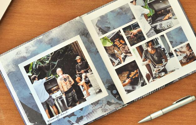 Grunge One: Diseño de fotolibro para vacaciones - Descarga Gratis
