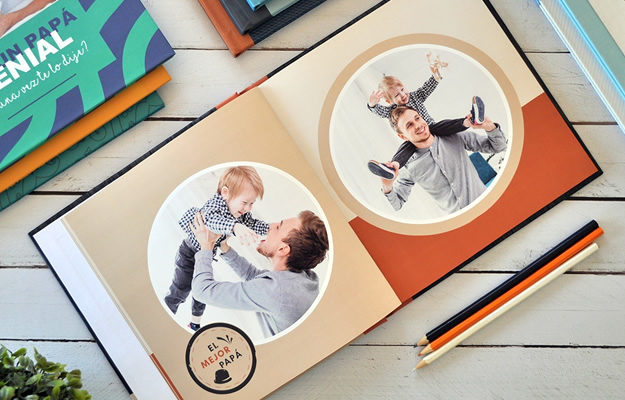 Retro - Diseño de fotolibro para el Día del Padre