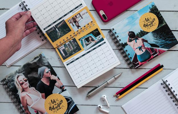 Adventure 2. Diseño de calendario personalizado para descargar gratis y completar con tus fotos en el soft de compu!