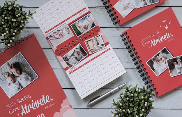 Atrevete. Diseño de calendario personalizado de escritorio para descargar gratis y completar con tus fotos en el soft de compu!