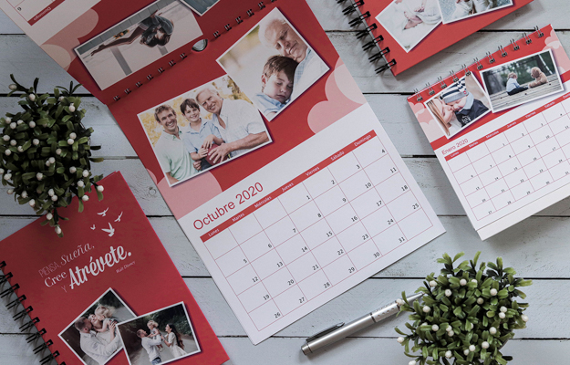Atrevete. Diseño de calendario personalizado de pared para descargar gratis y completar con tus fotos en el soft de compu!