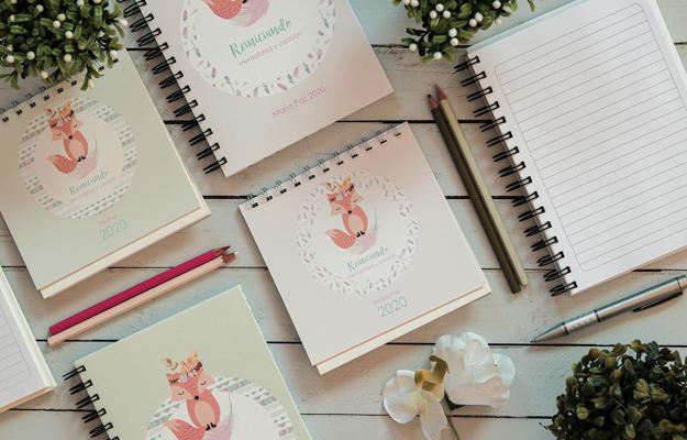 Boho Paz. Diseño de calendario personalizado para descargar gratis y completar con tus fotos en el soft de compu!