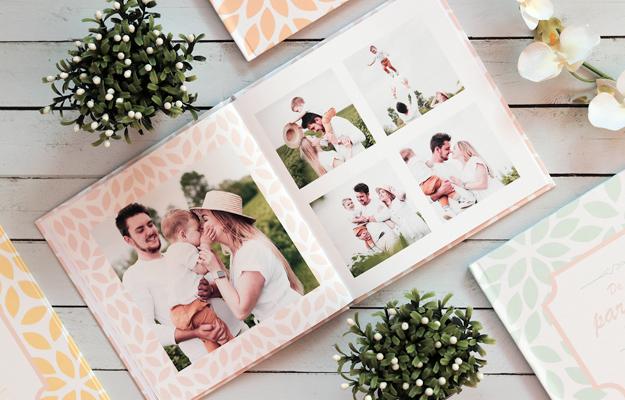 Colección: Pétalos. Diseño de fotolibro en 4 versiones de color para descargar gratis y completar con tus propias fotos!