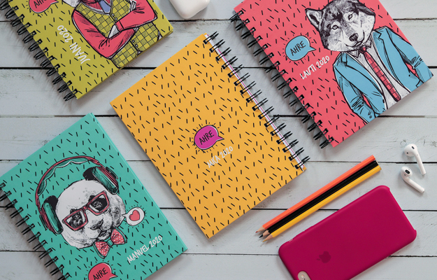 Ahre. Diseño de cuaderno personalizado para descargar gratis y completar con tus fotos en el soft de compu!