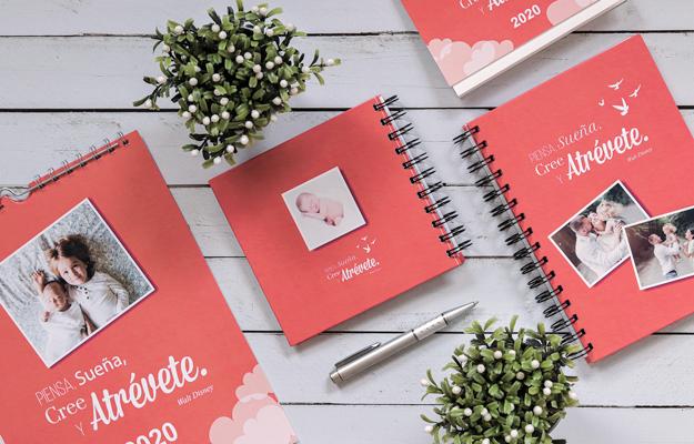 Atrevete. Diseño de cuaderno personalizado para descargar gratis y completar con tus fotos en el soft de compu!