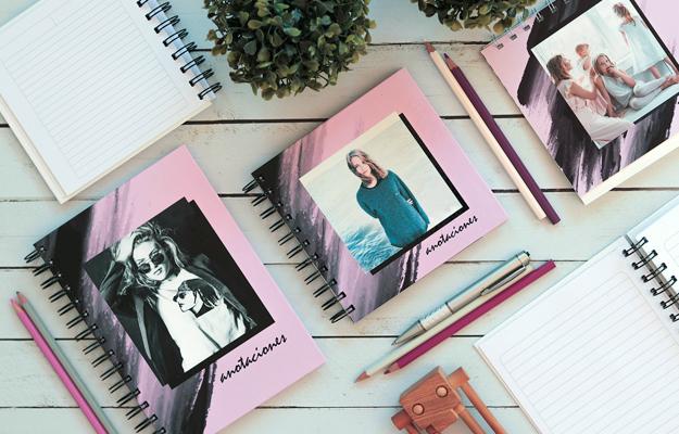 Milano. Diseño de cuaderno personalizado para descargar gratis y completar con tus fotos en el soft de compu!