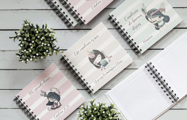 Tribi. Diseño de cuaderno personalizado para descargar gratis y completar con tus fotos en el soft de compu!