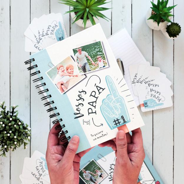 Cuaderno personalizado para el Día del Padre | Papá Nro. 1