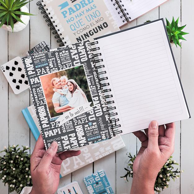 Ideas Regalos Originales - Cuaderno Personalizado para regalar en el Día del Padre