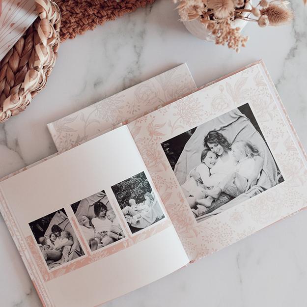 Diseño de fotolibro Floral Vintage para descargar gratis